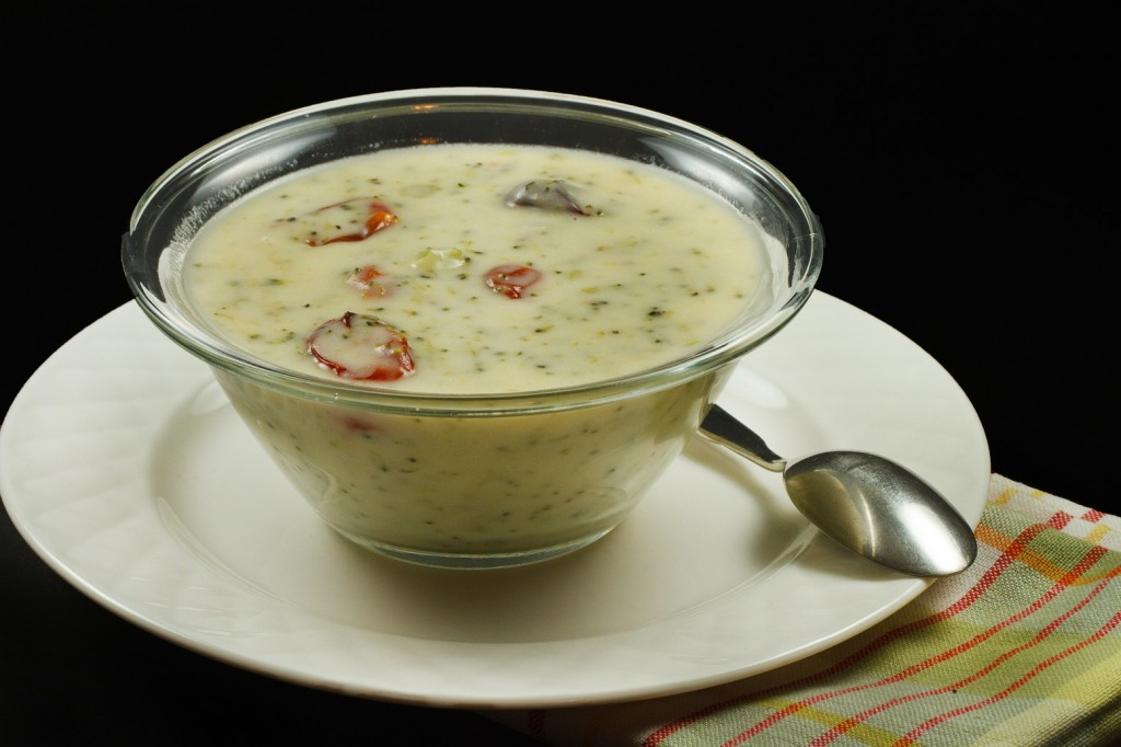 How about my cream of broccoli soup for dinner tonight? I'm sure ...