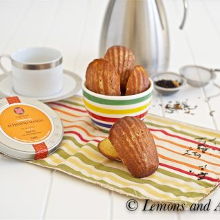 Honey Mango Madeleines with Lemons and Anchovies