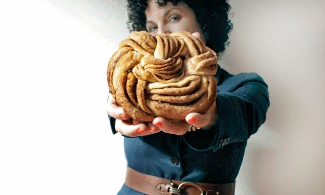 woman holding Orange Cinnamon Vanilla Pastry Recipe