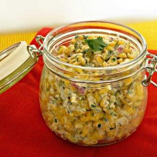 Creamy Corn Salad with Hungry Couple