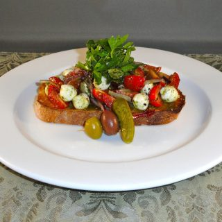 Open Faced Tomato and Fresh Mozzarella Sandwich with Chef Mario Porreca