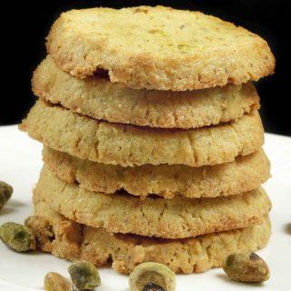 Pistachio Cornmeal Butter Cookies