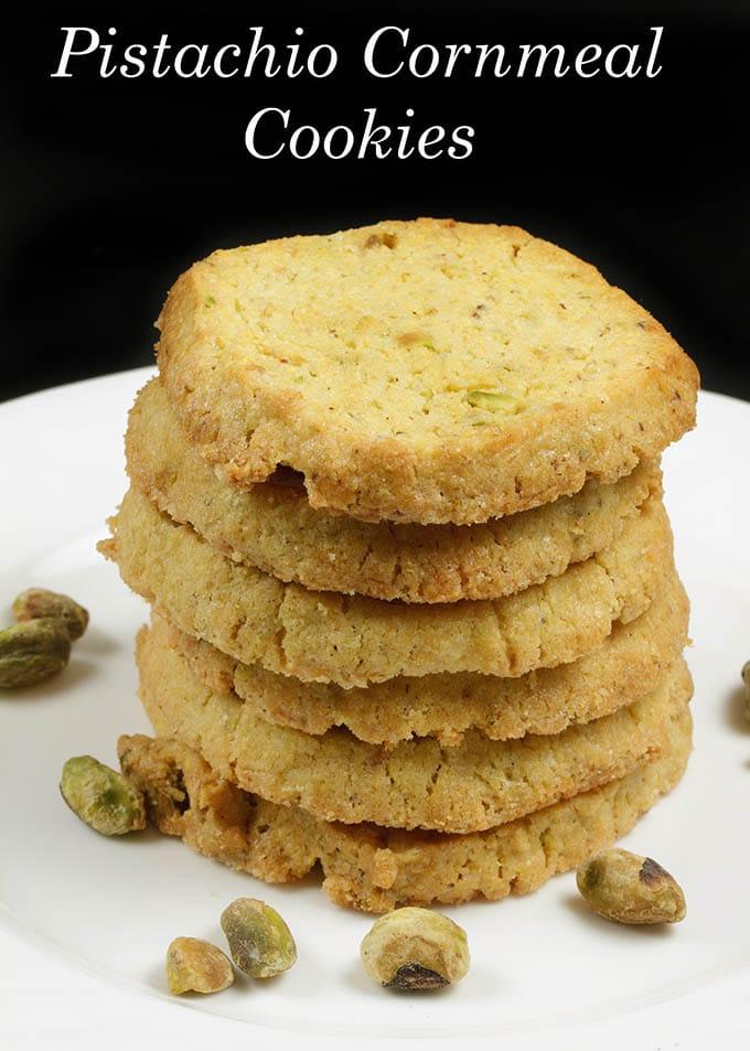 Pistachio Cornmeal Butter Cookie recipe - An Italian Classic