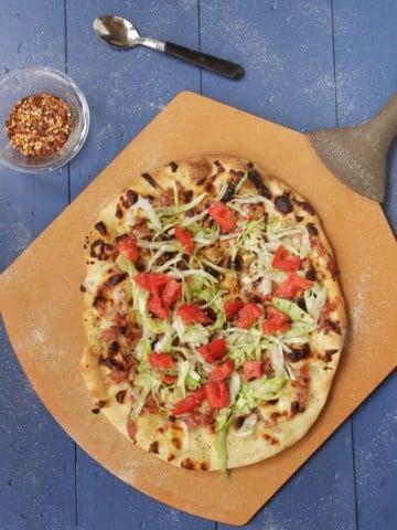 Italian Hoagie Pizza with Land O Lakes 4 cheese Italian blend