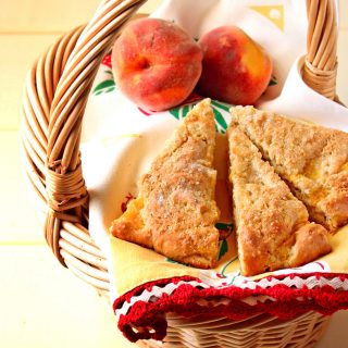 Brown Butter Peach Scones with Tutti Dolci – All Sweets