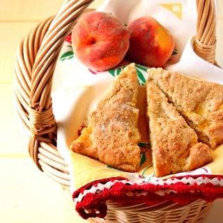Brown Butter Peach Scones Recipe