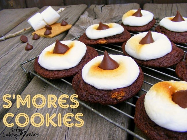 smores cookies on a wire rack