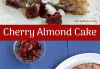 Pinterest image for cherry almond cake