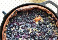 Blueberry Lemon Dutch Baby with Fork vs Spoon