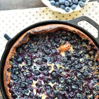 Blueberry Lemon Dutch Baby with Fork vs Spoon