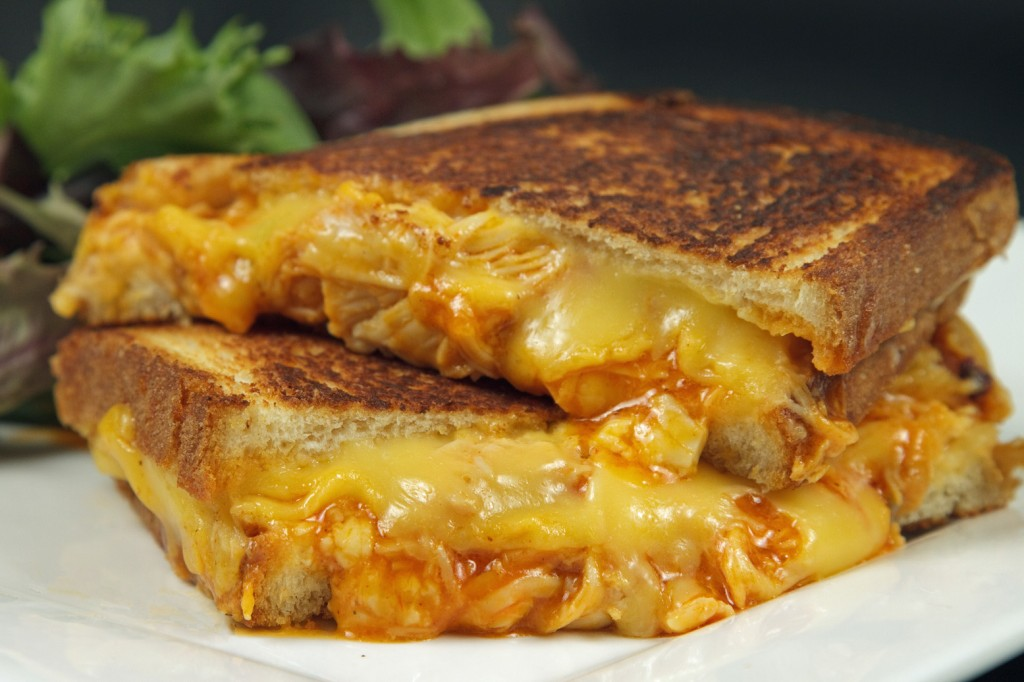 Buffalo Chicken Grilled Cheese Sandwich and Stuffed ...