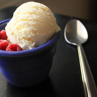 Lemon Curd Mascarpone Ice Cream with Kelly Bakes