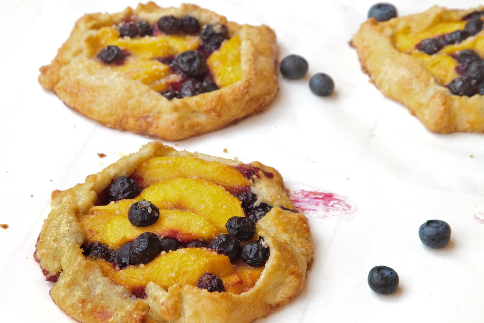 Blueberry Peach Crostata