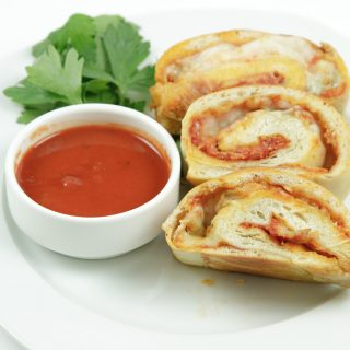 Seven Cheese Pizza Roll Ups for a Back to School Lunch!
