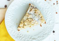 Banana Crumb Cake with Pecans and Chocolate Chips