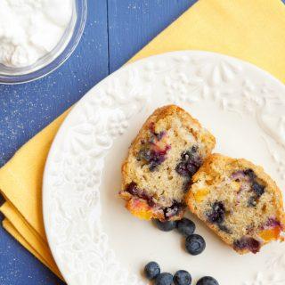 Nectarine Blueberry Muffins