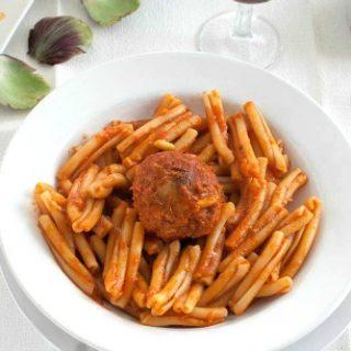 Pasta with Sicilian Stuffed Artichokes Recipe