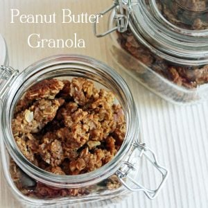 containers of peanut butter granola
