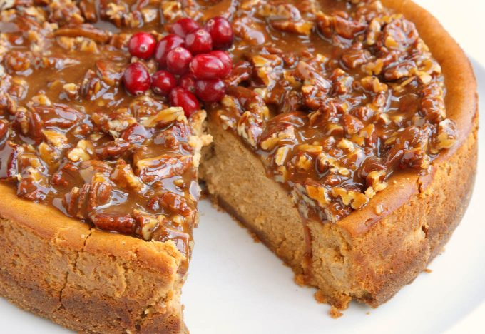 Pumpkin Praline Cheesecake Recipe for your Fall and Holiday Table