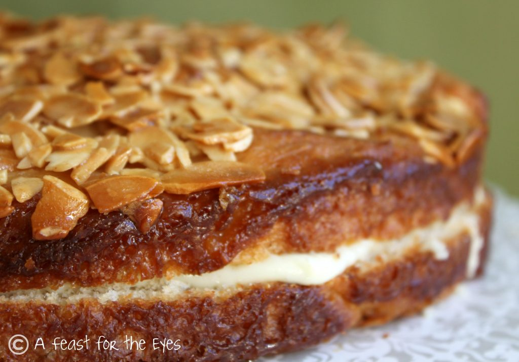 close up of Bee Sting Cake
