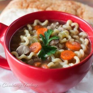 Turkey Noodle Soup with Pressure Cooking Today