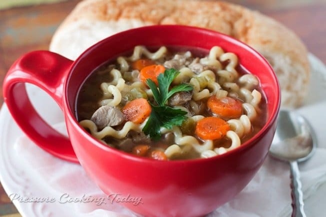 Turkey Noodle Soup Recipe for your pressure cooker