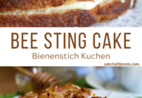 Pinterest image for Bee Sting Cake