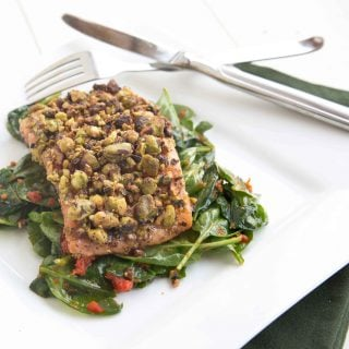 Pistachio Encrusted Salmon – healthy and delicious restaurant style dish