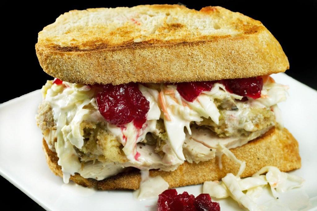 Turkey leftover sandwich