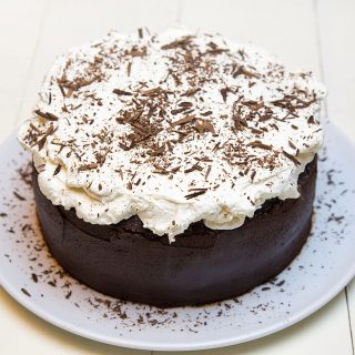 Vegan Chocolate Fudge Cake with Whipped Cream