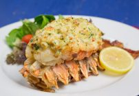 Lobster stuffed with crab Imperial