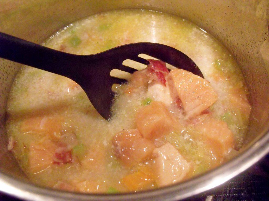 salmon chowder