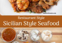 pinterest image for Sicilian Style Seafood