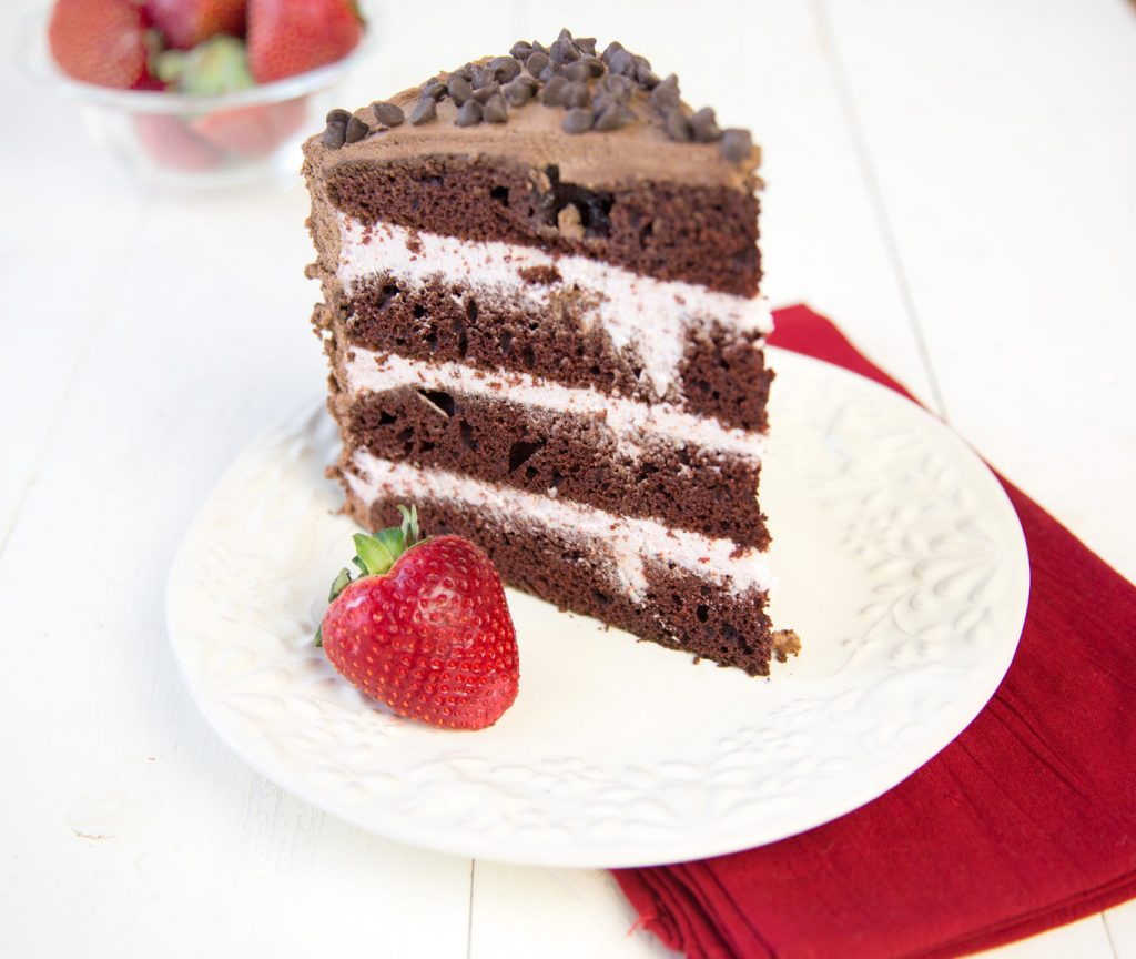 Chocolate Mousse Cake slice 2
