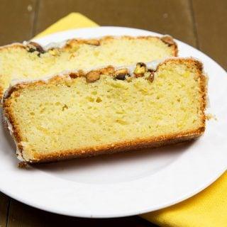 Meyer Lemon Pistachio Pound Cake