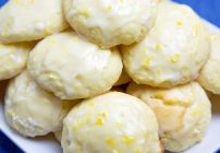 meyer lemon ricotta cookie with a lemon glaze