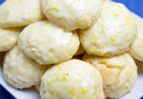 meyer lemon ricotta cookie with a lemon glaze