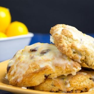 Meyer Lemon Scone with Pistachio's and Cranberries