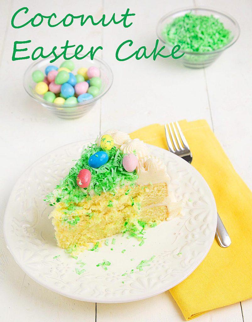 Coconut Easter Cake, King Arthur