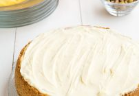 Meyer Lemon Cheesecake with a White Chocolate Topping