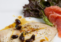 pinterest image for oven roasted pompano