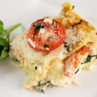 Spinach and Tomato Lasagna