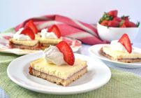 Strawberry Lemonade Shortcake Bars