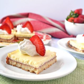 Strawberry Lemonade Shortcake Bars