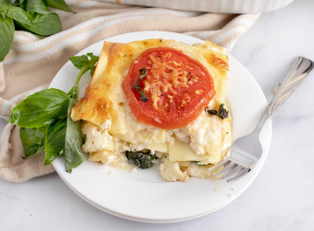 Tomato & Spinach Lasagna