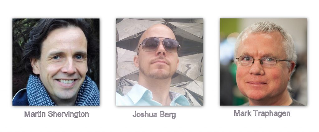 Martin Shervington, Joshua Berg, Mark Traphagen