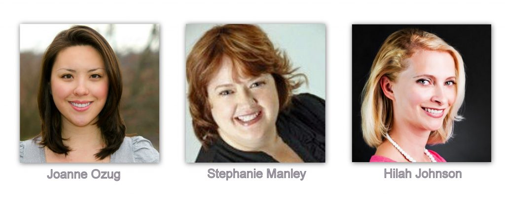 Joanne Ozug, Stephanie Manley, Hilah Johnson