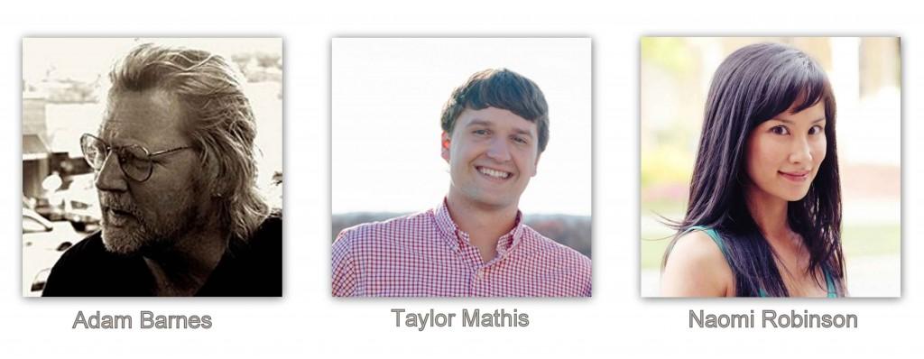 Adam Barnes, Taylor Mathis , Naomi Robinson