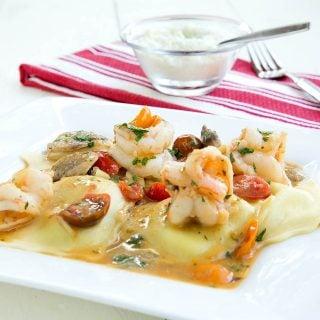 Shrimp Scampi Ravioli- Inside my Restaurant Kitchen