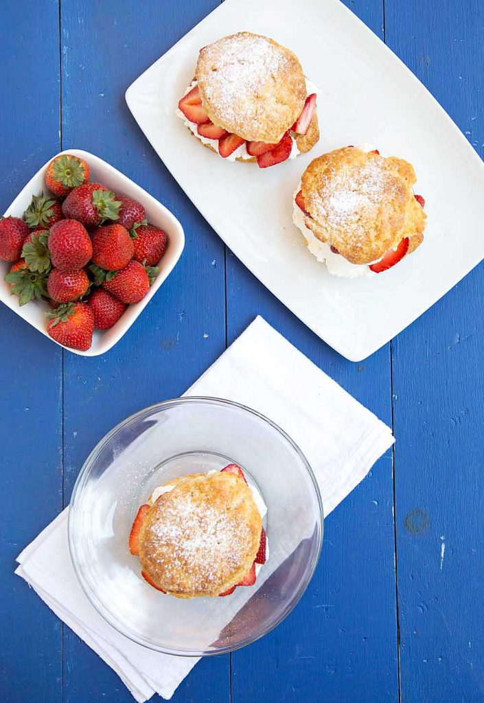 scone, National Dairy Month, strawberries, whipped cream